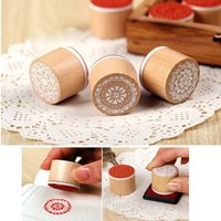 best rubber stamps - set The Best Price Brand New Vintage Floral Flower Round Wooden Rubber Stamp Scrapbooking Wedding Fit For Decoration