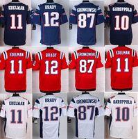 Wholesale Tom Brady Rob Gronkowski Julian Edelman garoppolo NEW Elite Men s Pattriots home away Football Jerseys Embroidery Mix Order
