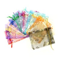 Wholesale Organza Jewelry Candy Wedding Gift Pouch Bags x9cm Mix Color for Party Holiday New Year Use