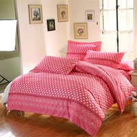 Wholesale Dots Pattern Duvet Cover Pillowcase Quilt Cover Bedding Set Available for Shipment Exclusively within the U S