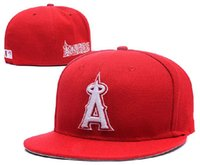 Wholesale HOT New Los Angeles Angels Baseball Cap Embroidery Logo Cooperstown Fitted Hats Adult Fit Sports Cap