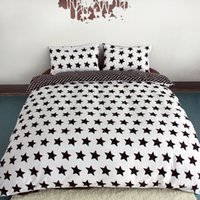 Wholesale Black And White Printing Activity Bedding sets Super King Queen Star Duvet Quilt cover set Bedroom Bedding Home Textiles ZY15