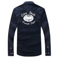 Wholesale Eden Park Good Selling Made In China Full Sleeve Shirt For Men Turn Down High Quality Casual Style M L XL XXL