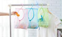 bath hook set - colors Bathroom Storage Clothespin Mesh Bag Hooks Hanging Bag Organizer Shower Bath New