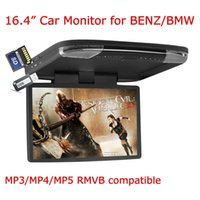 Wholesale 15 Inch P Video HD Digital Widescreen Car Overhead Coach Caravan Flip Down car DVD Player Game Disc HDMI Port IR Headphones Included
