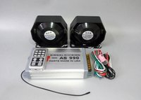 Alarm Systems ambulance designs - America design W car siren amplifiers alarm with wireless remote units W slim speaker for police ambulance fire truck ect