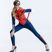 amazing stages - Amazing Spiderman Jumpsuit Costume for Women Halloween Carnival Luxurious Fashion Superhero Zentai Cosplay Stage Costume S XL W880333