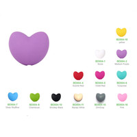 Wholesale New Heart Beads Food Grade Silicone Teeth Beads DIY Necklaces Baby Bracelets Babies Chewing Teethers Necklaces Jewelry