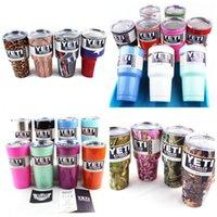 Wholesale 2016 Camo Hot Sale YETI Rambler Stainless Steel oz Yeti Cups Bilayer orange purple Color Insulation Mug Keep Drink Cold Mugs