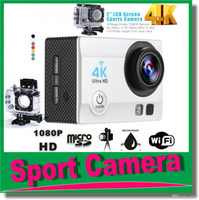 New Silver MicroSD / TF Ultra HD 4K 16MP WIFI Action Camera Camcorder 1080P 2.0 inch 170 Degree Lens go 30M Waterproof pro Action Cam with Waterproof Case JBD-M1