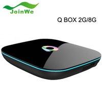 Wholesale 10pcs Q Box Android Set Top Box Media player Amlogic S905X G G Gigabit LAN WiFi H KODI Full Loaded
