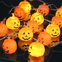battery operated halloween lanterns - Halloween M LED Pumpkin String Light Battery operated Orange Pumpkin Lights Halloween Holiday Decoration Lanterns Light
