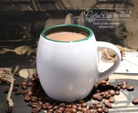 Wholesale 450ml White Coffee Mugs Ceramic Cup for Coffee Tea Milk Simple Style Barrel cup for High end Coffee Shop Friends Gift