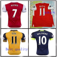 arsenal away jerseys - 2016 Top quality Arsenal home Away RD Jerseys ALEXIS WILSHERE OZIL WALCOTT RAMSEY ALEXIS jerseys Rugby