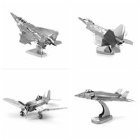 Wholesale DIY D Metal Puzzles for children Adults Jigsaw AVRO Lancaster F22 Raptor F Fighter F Eagle Fighter puzzles