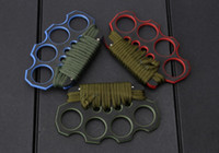 Wholesale High quality G10 Brass knuckles Knuckle dusters four fingers iron Integrated steel forming EDC tools