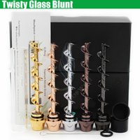 Wholesale Twisty Glass Blunt Second rd edition Dry herb Pipe grinder Filter System More Accessories herbal Pipes Twist me cigarettes vapor bongs DHL
