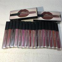Wholesale 16 Colors Huda Beauty Matte Liquid lipstick Lip Gloss Make up Waterproof Long Lasting Lipgloss Trophy Wife Icon Vixen DHL