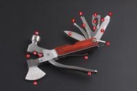 Выживания оптовиков RU-Оптовик Открытый многофункциональный инструмент нож топор молоток ключ поле складной нож инструмента зажим выживания мини многофункциональный ручной инструмент