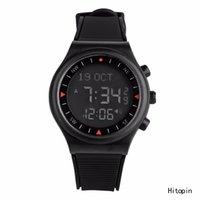 Wholesale Russian Hotsell Automatic Man azan alarm watch for islamic prayer time Full Black color Azan Watch Prayer clock