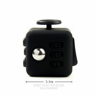 Wholesale Mini Fidget Cube Vinyl Desk Toy Keychain Squeeze Fun Best Stress Reliever Finger toys with box