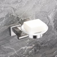 Wholesale Hgh quality nickel finished soap dish bath shower stainless steel soap holder wall mounted