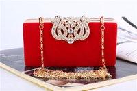 Couronne chaude courte sacs de soirée sac à main d'embrayage sacs de soirée Sac bandoulière pour mariage Sac de mariage de mode pour femmes 5 Couleurs