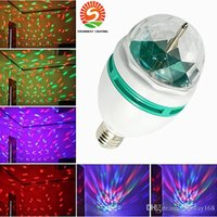 Wholesale Mini LED effects lights W E27 RGB full color LED Stage lighting Magic ball dj lights disco ball
