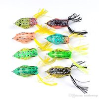 Wholesale 8colors Simulation Ray Frog Artificial Lure For Freshwater Fishing g cm Topwater Soft Bass Pesca Baits