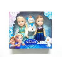 al por mayor juguetes para los niños de las muchachas-3pcs NUEVA mini princesa Elsa Anna Olaf bebé muñecas niños juguetes de dibujos animados para niños niña muñeca Brinquedos Meninas la nieve reina
