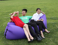bear sleeping bag - Factory Diretly Sale Outdoor Inflatable Couch Camping Furniture Sleeping Compression Air Bag Lounger Hangout Fabric kg Bearing Free DHL