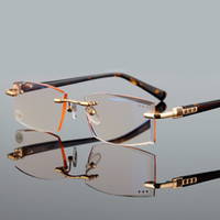 Wholesale High quality diamond cutting a man and a woman reading glasses glasses myopia glasses