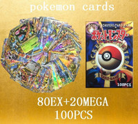 Wholesale DHL Poke Trading card games EX MEGA case Anime Pocket English edition Shining cards Toys for children