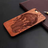 Wholesale Brand New real Natural Wood cell phone cases with PC laser engraving Dirt resistant and perfect fit for iPhone s SE S SPlus Plus case
