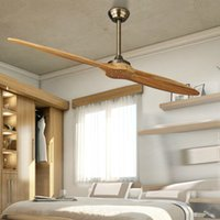 Wholesale Village Nordic Wooden Blade DC Ceiling Fan With Remote Control Attic Dining Room Without Light Fan V Ventilador de Teto