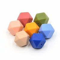Wholesale Hexagon Loose Silicone Beads for Teething Necklace Safe for baby