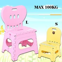 as pic adult folding chair - Thickening folding stool chair L plastic portable domestic chair outdoor creative wooden bench adult children