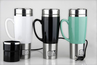 Metal auto travel accessories - Car Heating Cup Auto V Heating Cup Electric Kettle Cars Thermal Heater Cups Boiling Water Bottel Auto Accessories ML