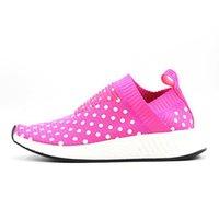 Cheap Origin Famous NMD Ville Sock CS2 rose Wave point BA7212 Chaussures de sport pour femmes Taille 36-39