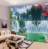 Wholesale curtains for living room green waterfall fashion decor home decoration for bedroom living room curtain