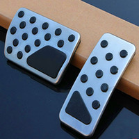 Wholesale SET Fuel Brake Pedal Covers For Jeep Grand Cherokee Silver Pedal car stickers accessories styling trim