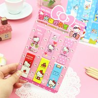 Wholesale D05 Pack Cute Hello Kitty Luminous Magnet Bookmarks Paper Clip School Office Supplies Escolar Papelaria Gift Stationery