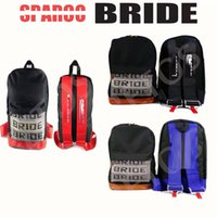 backpack car seat - BRIDE backpack Bride Fabric Canvas Car Back Pack with Seat Belt Racing School Bag
