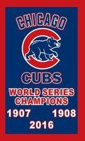 Wholesale Chicago Cubs Champions Flag Kris Bryant Javier Baez Anthony Rizzo Kyle Schwarber David Ross Joe Maddon