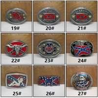 Wholesale New Confederate Southern South Rebel Dixie Flag Buckles Army Big Belt Buckle Buckles High Quality C009
