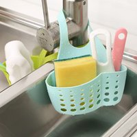 Wholesale Kitchen gadgets creative adjustable buttons waterproof PVC Sink Hang bags commodity shelf B218