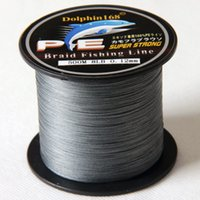 Wholesale M strands PE Grey BRAID FISHING LINE Dyneema Spectra fishing tackle Floating Line lbs lbs