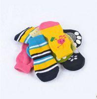 Wholesale Fashion cute pet dog cat warm socks soft cotton Anti slip socks set selling from
