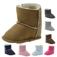 Wholesale Silver brown wool tide toddler shoes color soft bottom anti slip baby warm snow boots