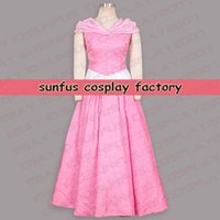 Halloween Sleeping Beauty Aurora Princess Dress Costume Cosplay Film Rose